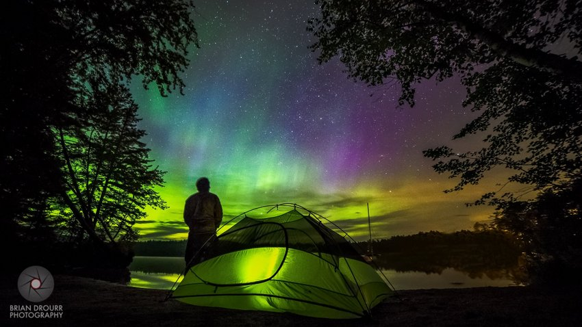 Aurora while Camping by Brian Drourr Photography