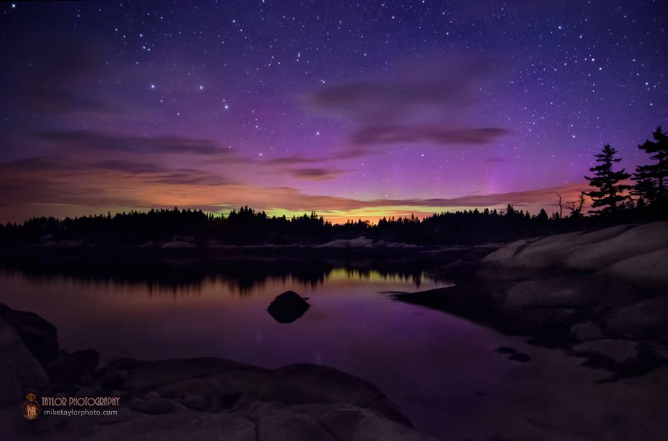 Aurora Borealis. From Stonington, Maine by Mike Taylor