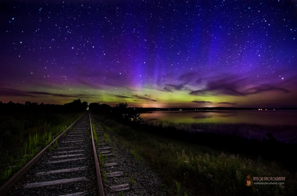 Aurora Borealis. From Unity, Maine by Mike Taylor