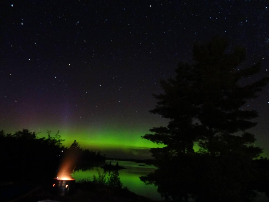 Aurora Borealis. From the shores of the French River, ON, Canada by RaySt.Louis