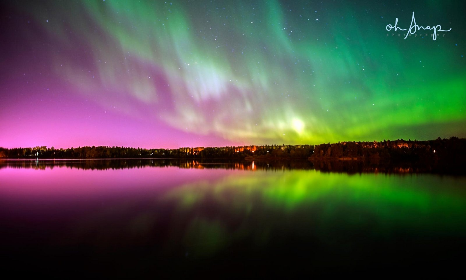 Aurora Borealis. From Thunder Bay Ontario by Oh Snap Photography