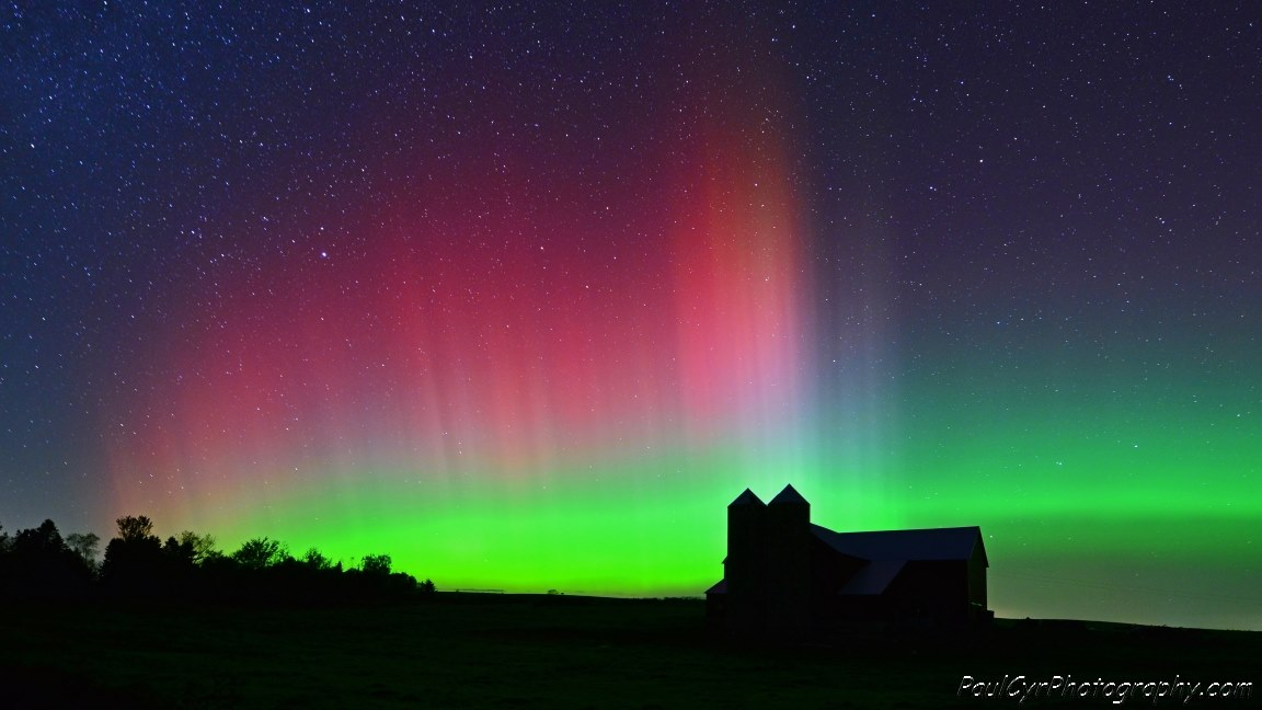 Aurora Borealis. From northern Maine by Paul Cyr