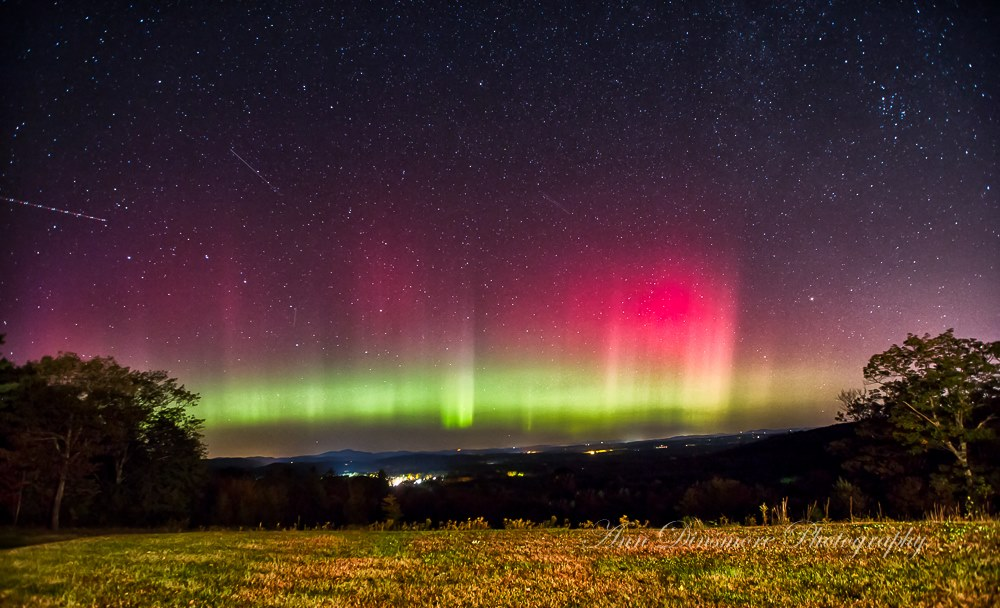 Aurora Borealis. From Weare, New Hampshire by Ann Dinsmore