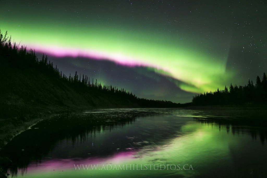 Aurora Borealis. From Hay River by Cyril Adam Hill