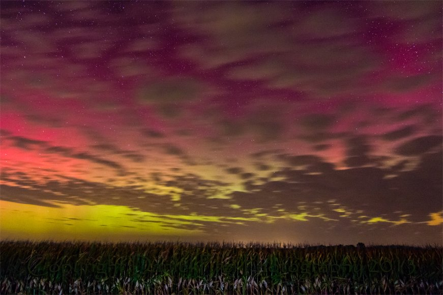 Aurora Borealis. Middle of the thumb in Michigan by Daniel Frei Photography
