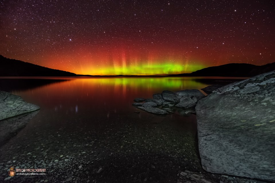 Aurora Borealis. At Moosehead Lake, Maine by Mike Taylor