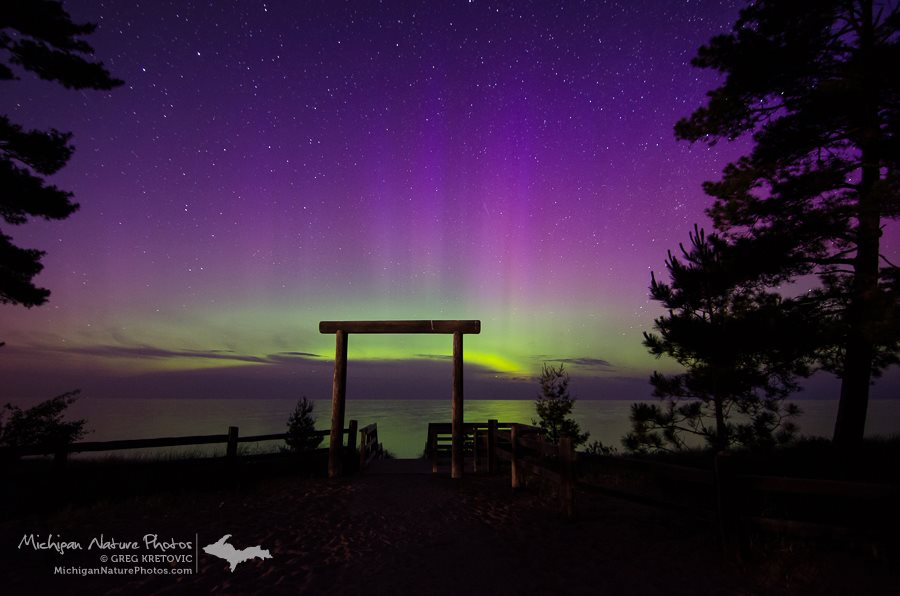 Aurora Borealis. From Marquette, MI on Lake Superior by Greg Kretovic
