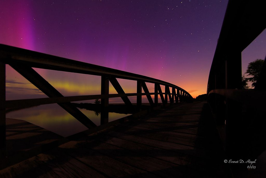 Aurora Borealis. From Fair Haven, NY by Everet D. Regal